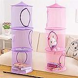 Bazaar 3 Tier Mesh Hanging Storage Pocket Toys Bedroom Door Wall Closet Home Organizer Bags Foldable Nest Basket Bra