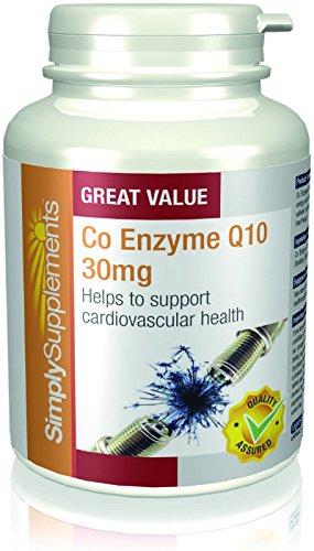 Coenzima Q10 30mg Ubiquinona - 2 frascos de 180 cápsulas - Hasta 1 año de suministro