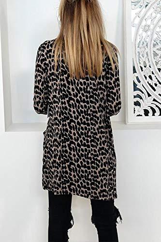 Stampa Cappotto Leopardato Outwear Giacca Casual Primavera Moda Jungen E Giacche Autunno Cime Coat Lunga Manica Donne Cardigan Tops SS8Ox7U6B