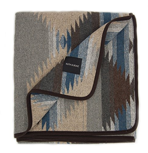 RUTH&BOAZ Outdoor Wool Blend Blanket Ethnic Inka Pattern(M) (GREY, NORMAL) ()