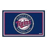 FANMATS MLB Minnesota Twins Nylon Face 4X6 Plush Rug