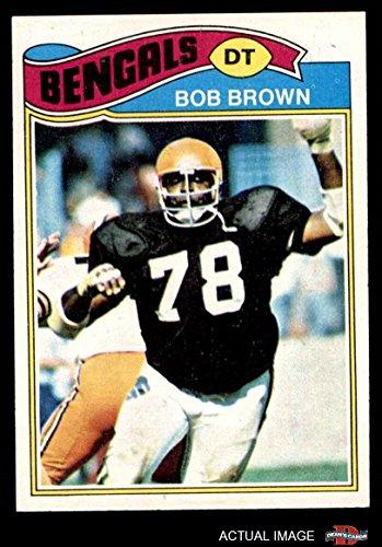 1977 Topps # 491 Bob Brown Cincinnati Bengals (Football Card) Dean's Cards 3 - VG Bengals