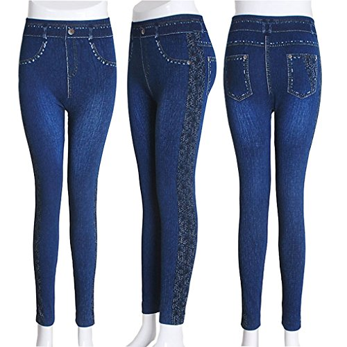 Plus Jeans Print 2018 Pencil Denim Femmes Krastal Lace Mode Size Leggings Side Slim Bgwxp