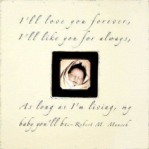 Sugarboo Designs PB181-CR I'll Love You Forever Photobox Frame, 20 by 20 by 1-3/4-Inch, Cream by Sugarboo Design