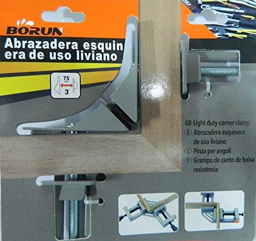 Serre-joint Presse d'angle serrage pour cadres - 75mm COLLAGE OU SOUDURE EN ANGLE DROIT borun