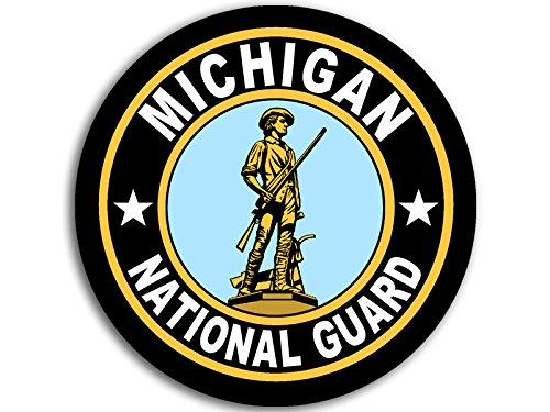 (American Vinyl Round Michigan National Guard Seal Sticker (Logo Insignia Army))