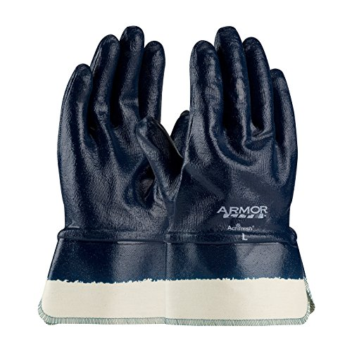 (ArmorLite 56-3176/XL Nitrile Dipped Glove with Interlock Liner and Smooth Finish on Full Hand, Plasticized Safety Cuff)