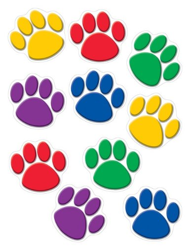 - Teacher Created Resources Paw Print Accents, Colorful (4114) - 30 Count