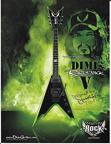 Dean Guitars - Dime Razorback V - Dimebag Darrell - 2006 Print Advertisement