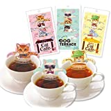 キャットカフェ アールグレイ ルイボスティー アッサム ティーバッグ 紅茶 3種セット 各1個
