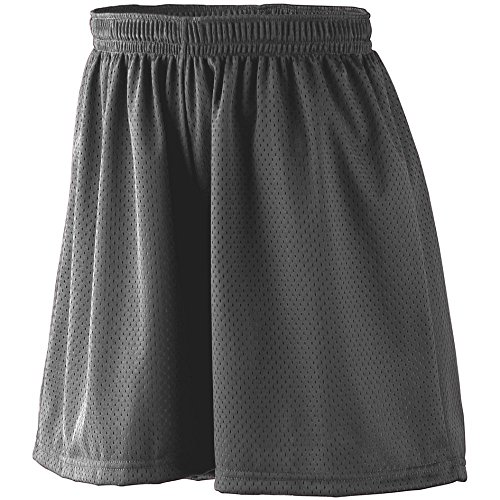 Augusta Sportswear Girls' Tricot MESH Short/Tricot Lined L Black