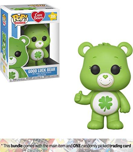 Good Luck Bear: Funko POP! Animation x Care Bears Vinyl Figure + 1 American Cartoon Themed Trading Card Bundle [#355 / 26695]