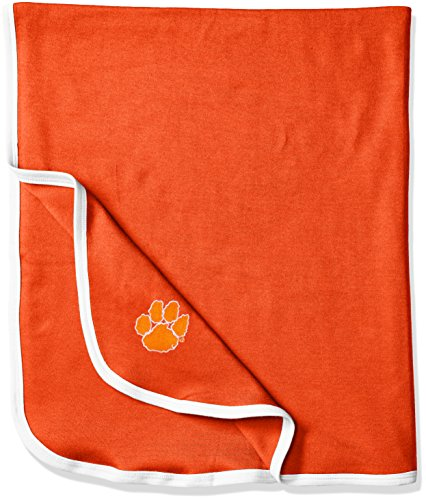 (Two Feet Ahead NCAA Clemson Tigers Infant Blanket, One Size, Orange/White)
