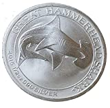 2015 AU 1/2 Ounce Silver Great Hammerhead Shark in a Gift Box 1/2 oz Silver Great Hammerhead Shark Half Dollar Uncirculated