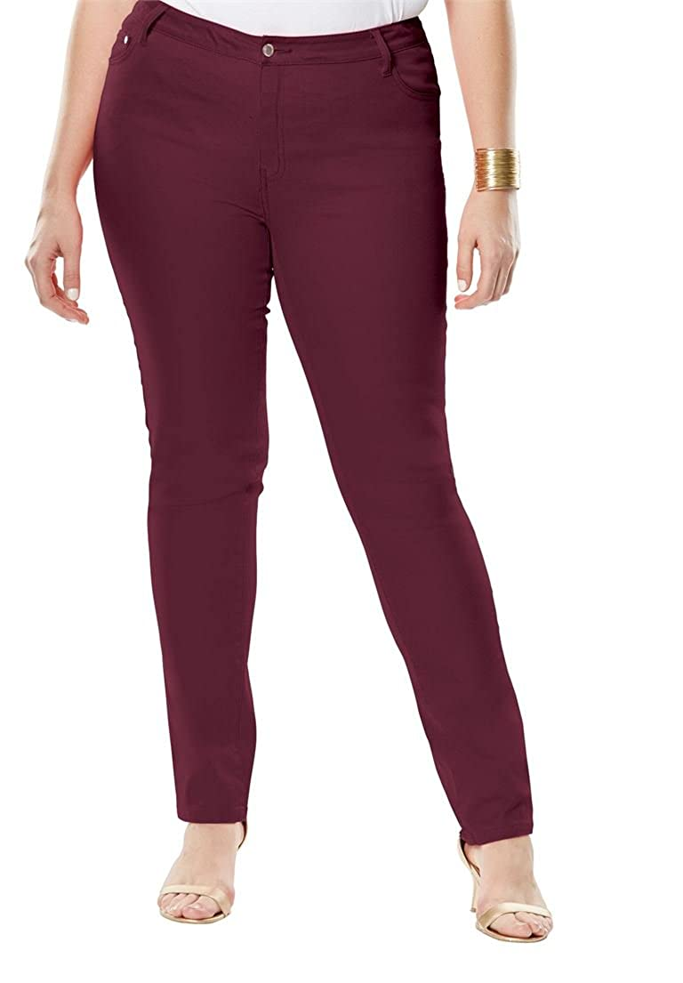 Jessica London Women's Plus Size Tall True Fit Straight Leg Jeans
