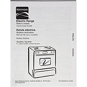 Frigidaire 318205806 Range/Stove/Oven Owner Manual