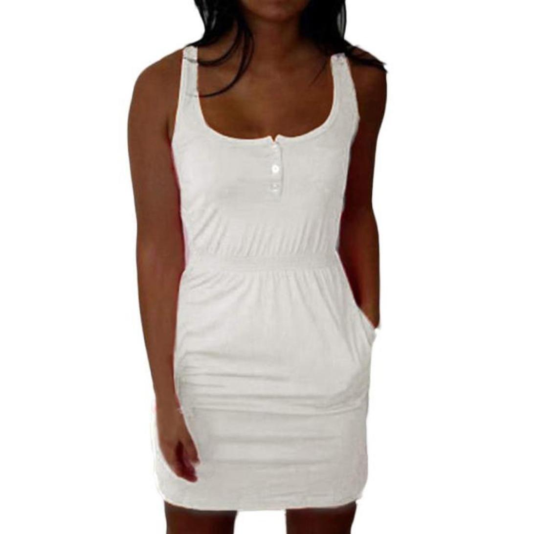FAMILIZO -Vestidos Mini Vestido Corto, Rectos Mujer Tallas Grandes ❤️S~5XL Verano Vestidos Sin Tirantes Vestidos Rectos Mujer Fiesta Cortos Vestidos ...