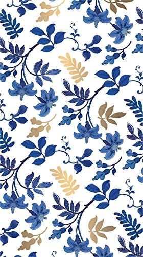 - Cypress Home Blue Floral Toile Metallic Paper Guest Towel. 15 Count