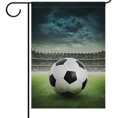 ShineSnow Soccer Garden Flag 12 x 18, World Cup Decorations