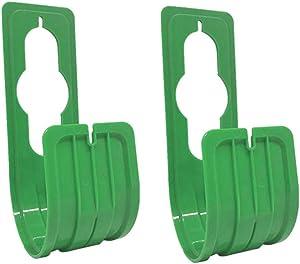 Lofiu Garden Hose Hanger Pipe Holder Hosepipe Watering Hook Wall Mount Heavy Duty Storage Rack Reel Hooks, 2PC (Green)