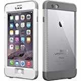 LifeProof iPhone 6 Plus Case - nüüd - for iPhone 6 Plus - White, Gray - Water Proof, Drop Proof, Snow Proof, Shock Proof, Dirt Proof, Dust Proof - 79.20' Drop Height - 79.20' Underwater Depth