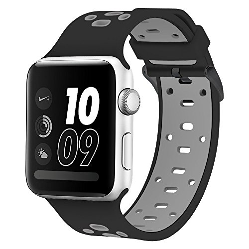 Compatible Apple Watch Band 42mm & 44mm, Alritz Silicone Sport Strap Replacement for Apple Watch Series 4/Series 3/Series 2/Series 1/Nike+
