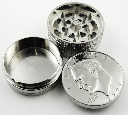 1-X-Silver-Dollar-Herb-Grinder-With-Pollen-Catcher-3