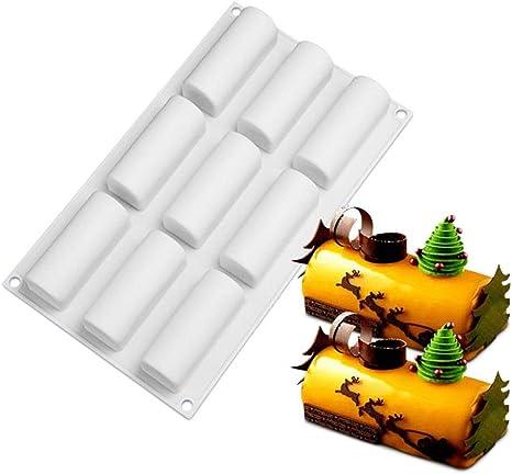 9 moldes rectangulares de silicona para barritas de proteínas ...