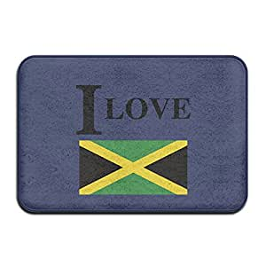 L Love Jamaica Flag Doormat Rug Door Mat