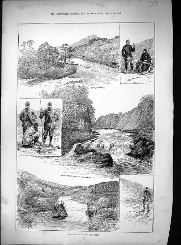 old-original-antique-victorian-print-fishing-inverness-river-salmon-ladder-falls-millmorach-eilean-a