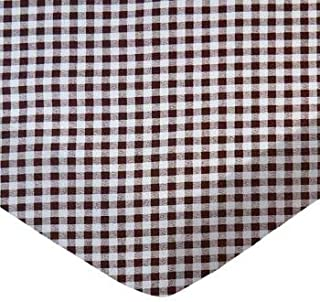 product image for SheetWorld 100% Cotton Percale Fitted Crib Toddler Sheet 28 x 52, Brown Gingham Check, Made in USA