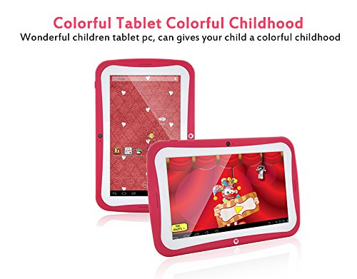 """""""10th Anniversary Promotion"""" iDream Kids Android Tablet, 7"""" Display, Dual Core Android 4.2 Kids Tablet, with Camera and Games, IPS Screen , Wi-Fi , 8GB ROM (Rose)"""