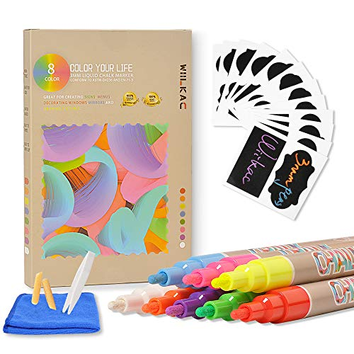 Markers Chalkboard Erasable Cleaning Reversible product image