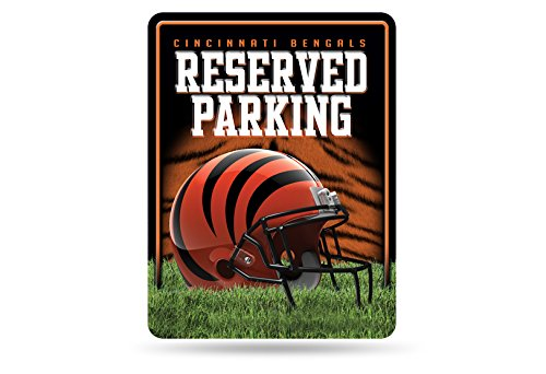 Cincinnati Bengals Metal - Rico NFL Cincinnati Bengals 8-Inch by 11-Inch Metal Parking Sign Décor
