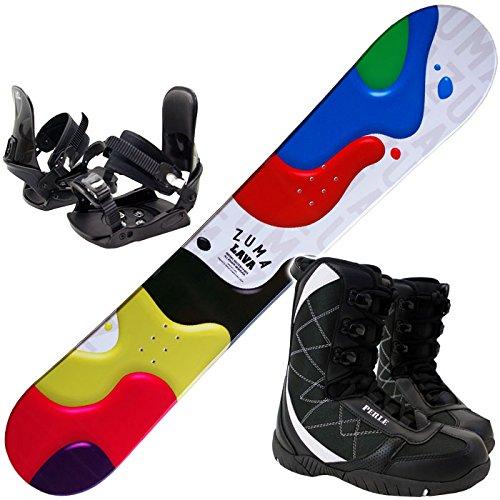 ツマ(ZUMA) スノーボード 3点セット LAVA 金具付き ブーツ付き B017SQQ1RY ブーツ26.0cm|スノーボード板150cm(ワックス施工付き)  ブーツ26.0cm