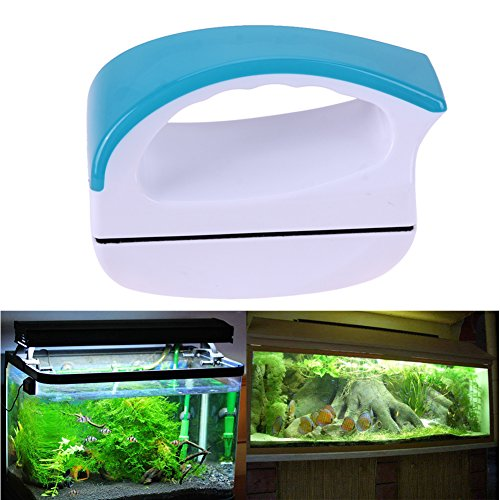 Amicc Aquarium Window Cleaning Magnetic Double Side Glass Wiper Brush Aquarium Fish Tank Glass Cleaner Floating Clean (S)