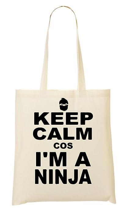 Keep Calm Cos IM Ninja Bolso De Mano Bolsa De La Compra ...