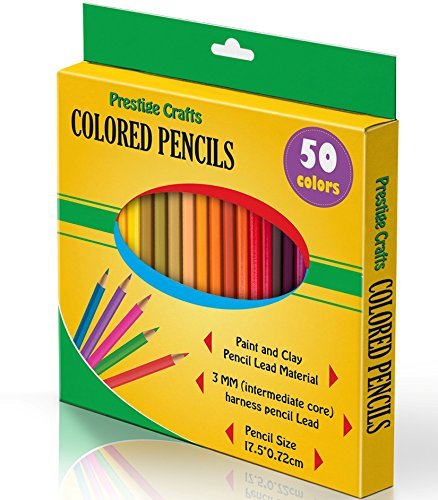 Prestige Crafts Colored Pencils, Pack of 50, Assorted Colors Image