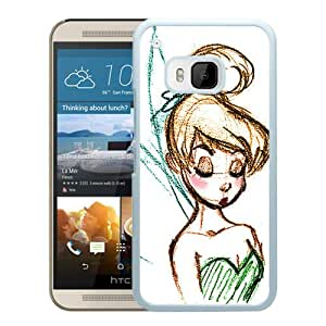 Disney Tinkerbell White Personalized Recommended Custom HTC ONE M9 Phone Case