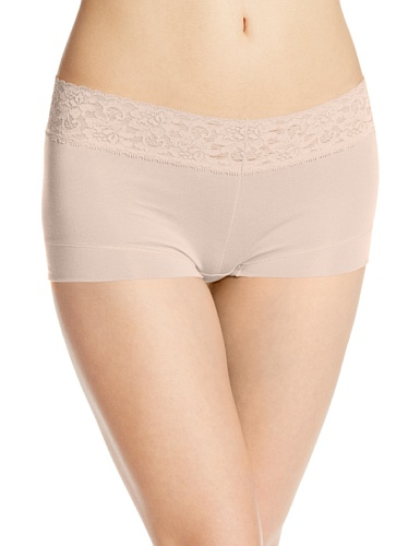 Maidenform Shorty Coton & Dentelle Braguita, Mujer Beige (Latte Lift)