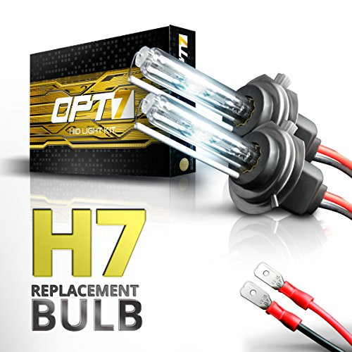 - OPT7 2pc Bolt AC H7 Replacement HID Bulbs [5000K Bright White] Xenon Light