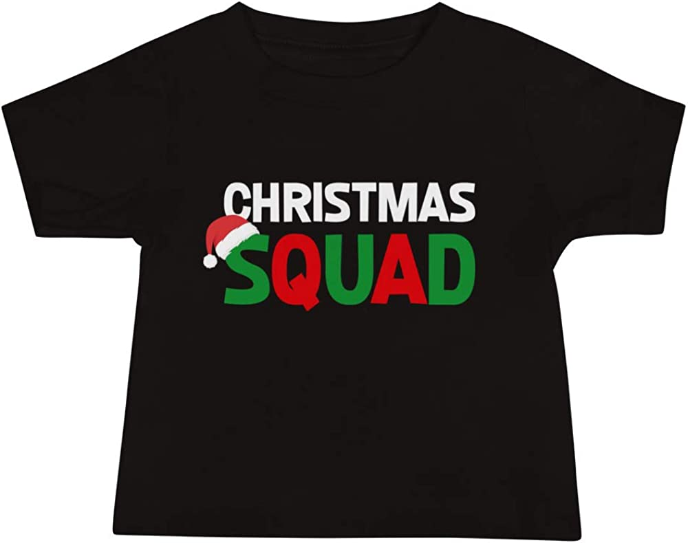 Holiday Baby Jersey Short Sleeve Tee Xmas Carol Team Christmas Squad Merry X-mas Funny