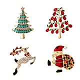 YSD Christmas Brooch Pins set Holiday Brooch Xmas Pin Lot Party Favor set christmas tree pins set