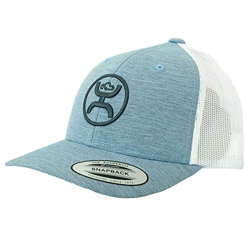 HOOey O Classic Youth Adjustable Snapback Hat (Blue/White)