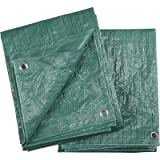 Ironton 2-Pack of Green Poly Tarps - 5ft. x 7ft.