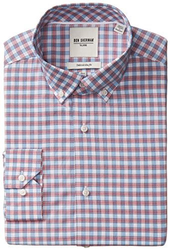 ben-sherman-mens-slim-fit-multi-check-button-down-collar-dress-shirt-multi-145-neck-32-33-sleeve