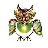 Metal Bird Solar Garden Light Owl, Owl