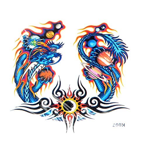 dragon sun flame temporary tattoo tattoo transfers for adults Stocking Stuffers