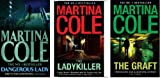 img - for MARTINA COLE THE GRAFT, LADYKILLER, DANGEROUS LADY 3 BOOK SET COLLECTION book / textbook / text book