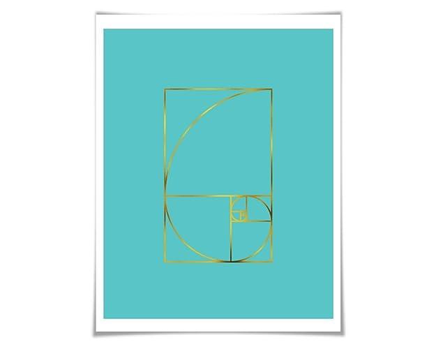 Amazon.com: Golden Ratio Gold Foil Art Print. 36 Colours/3 Sizes ...